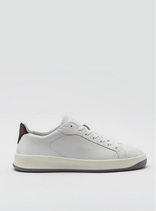 3A Reinweiss Bordeaux Sneakers