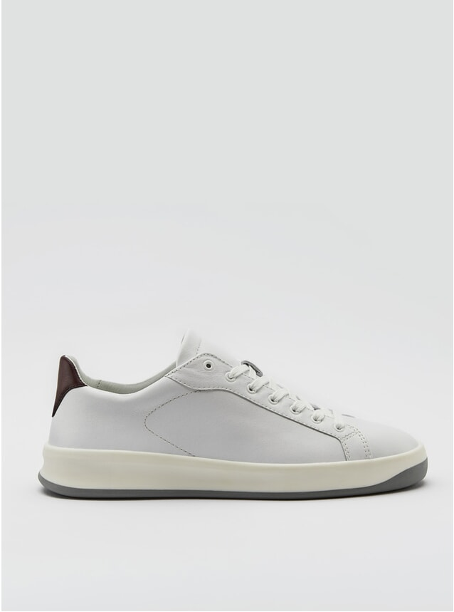 3A Reinweiss Bordeaux Sneakers
