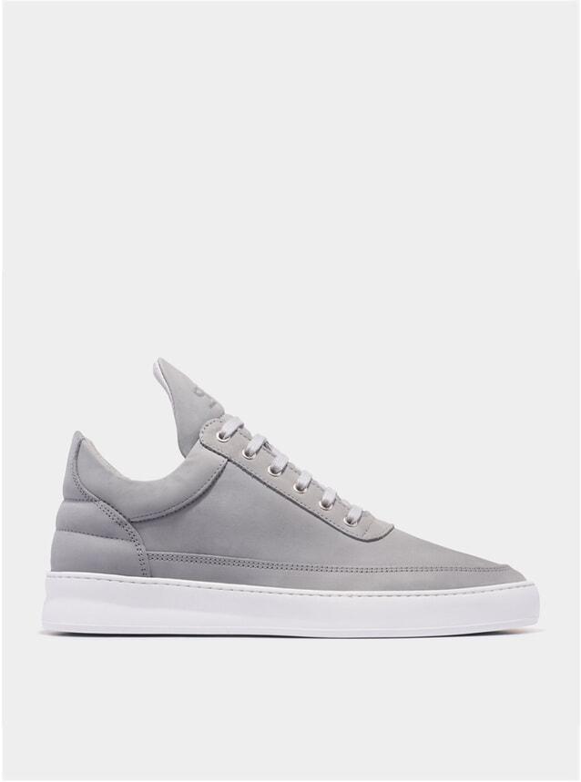 Grey Low Top Lane Sneakers