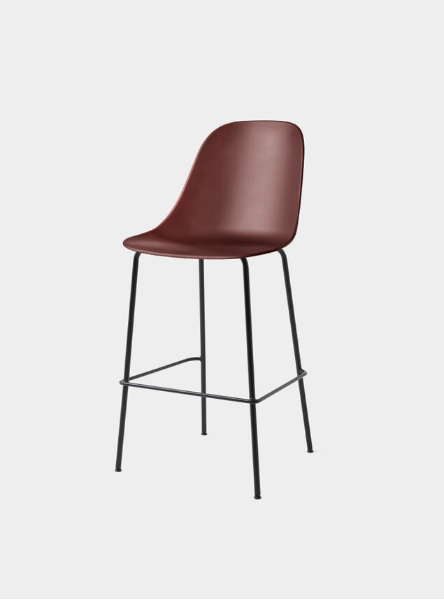 Burned Red /  Black Base Harbour Side Counter Stool