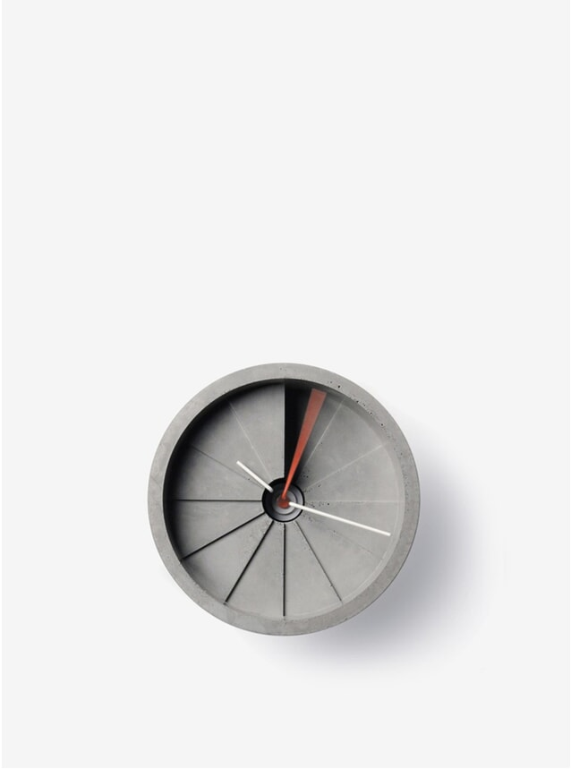 Red / Grey 150mm 4th Dimension Clock