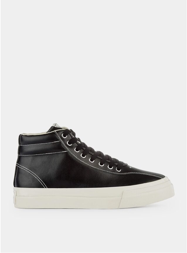 Black Leather Varden Sneakers