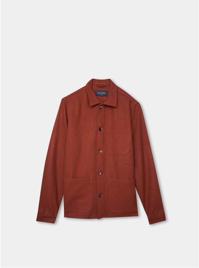 Brick Red Wool Original Overshirt