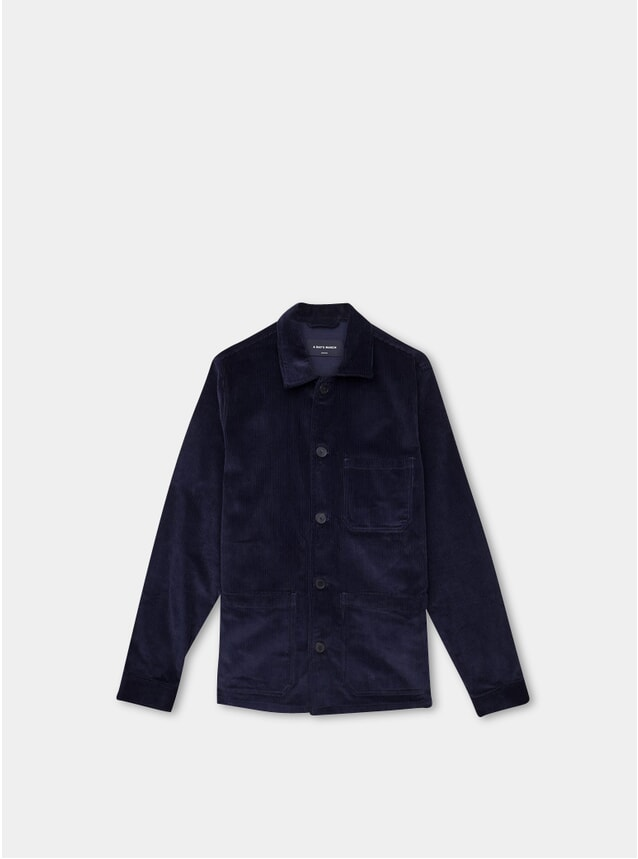 Navy Corduroy Original Overshirt