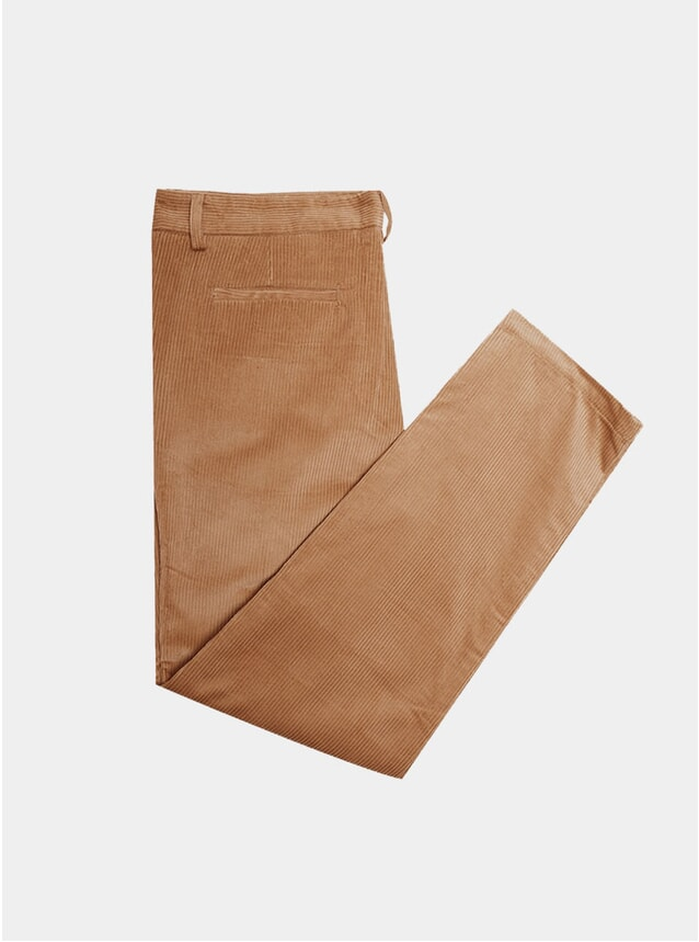 Almond Corduroy Relaxed Pants