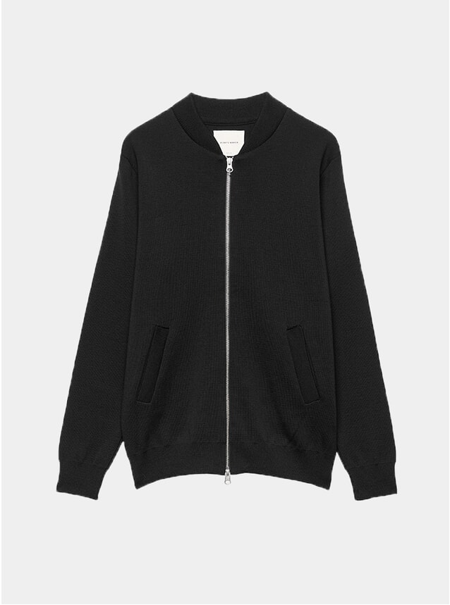 Black Milano Knit Bomber