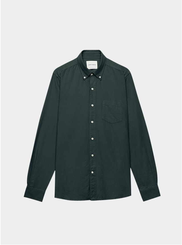 Bottle Green Dyed Oxford Shirt