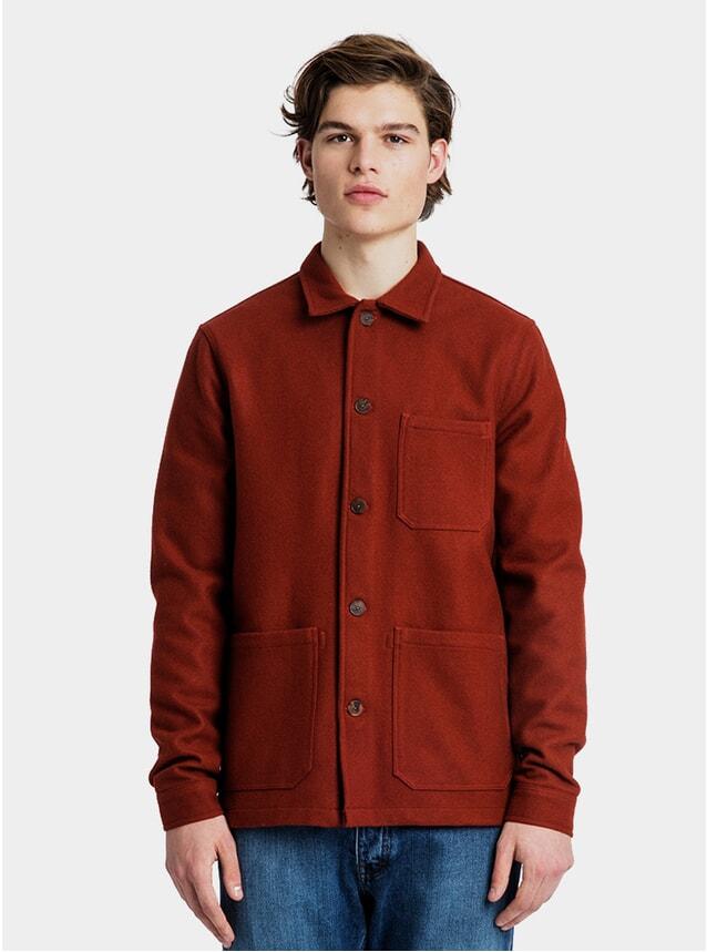 Brick Red Original Wool Overshirt