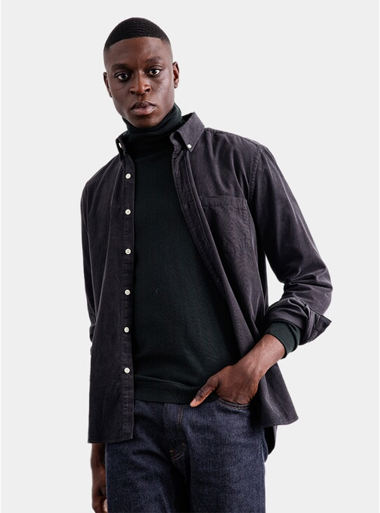 Charcoal Baby Cord Shirt