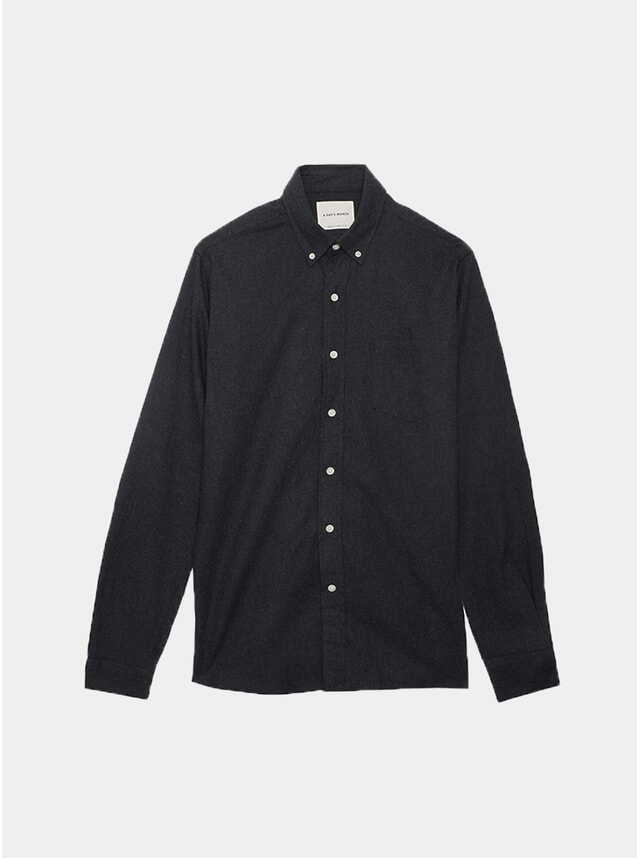 Charcoal Soft Flannel Shirt