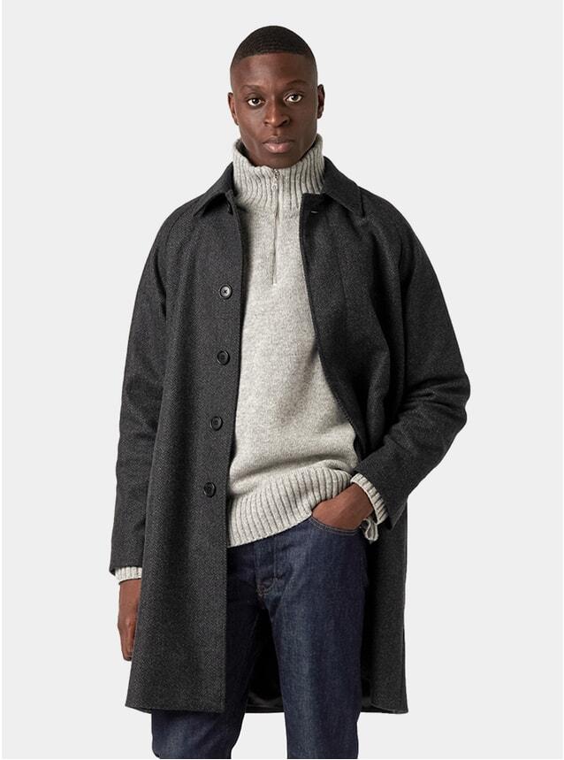 Charcoal Wool Car Coat