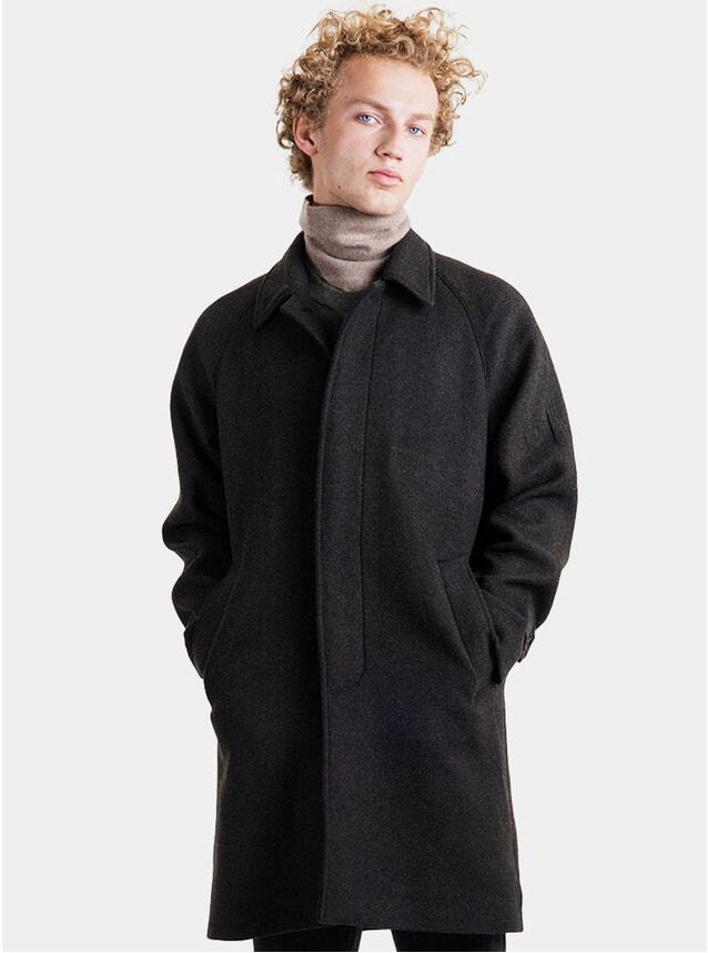 Dark Forest Car Wool Coat