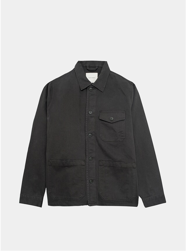 Forest Sturdy Twill Patch Pocket Overshirt