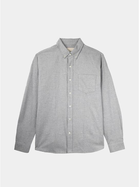 Grey Melange Flannel Shirt