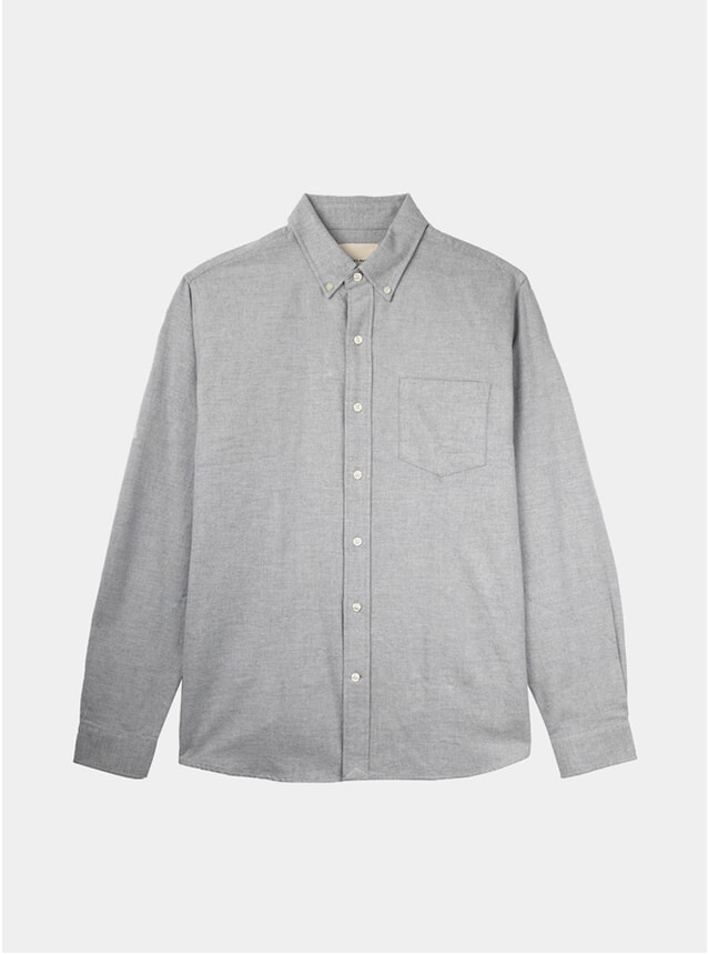 Grey Melange Flannel Shirt