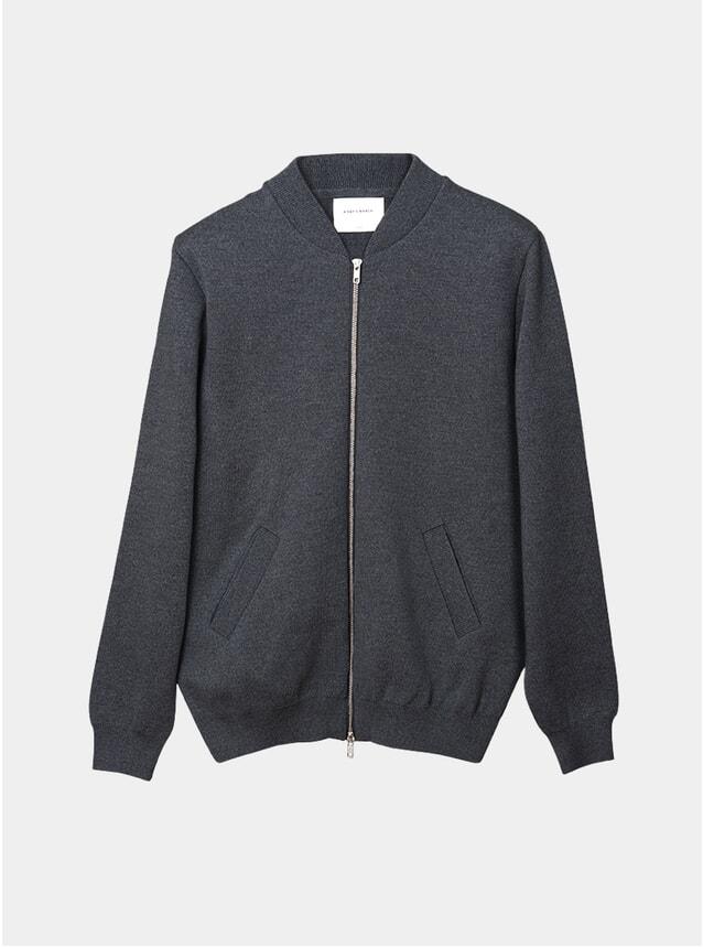 Grey Melange Milano Knit Bomber