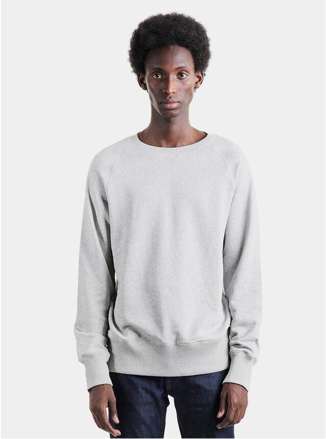 Grey Melange Raglan Sweatshirt