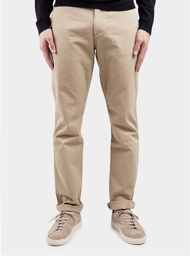 Khaki Classic Slim Fit Chinos