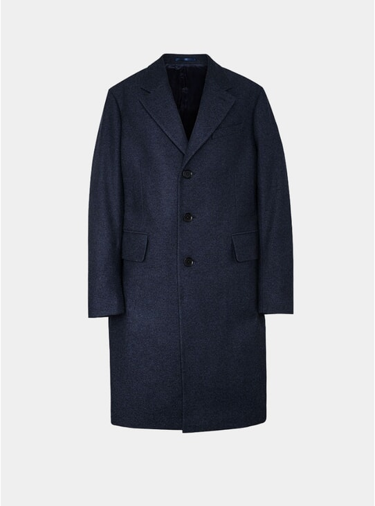 Navy Classic Wool Coat