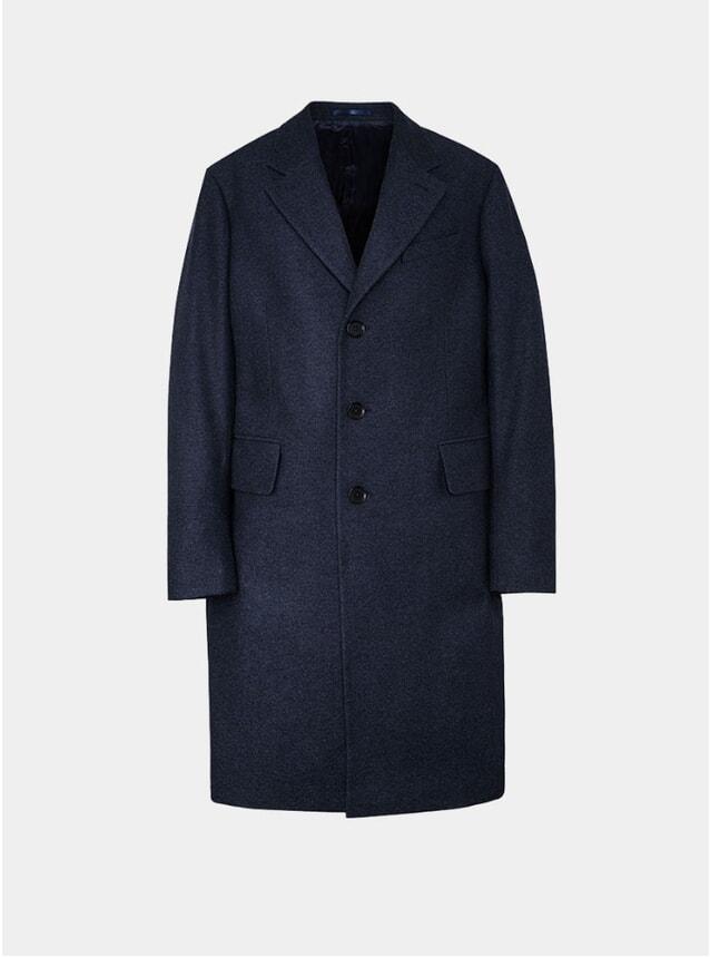 Navy Classic Wool Coat
