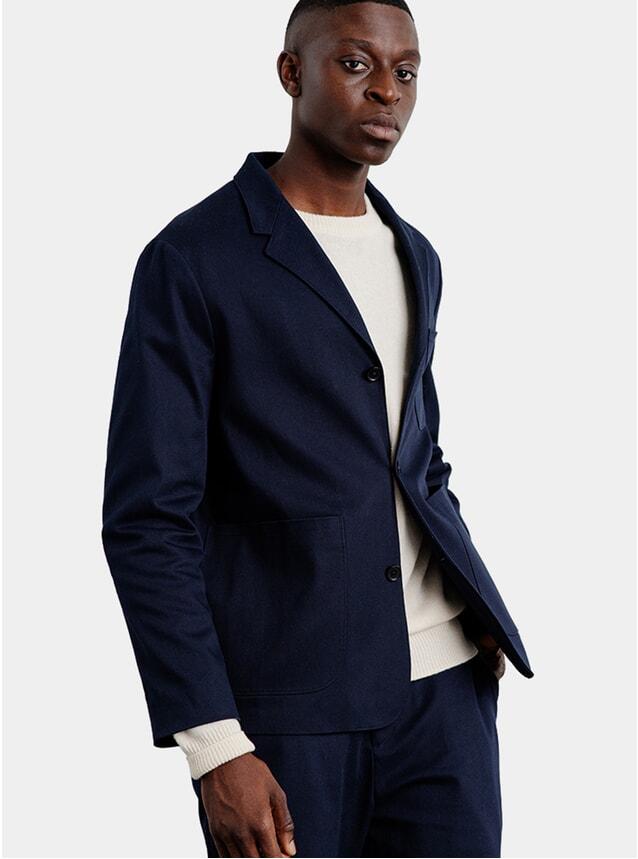 Navy Twill Jacket