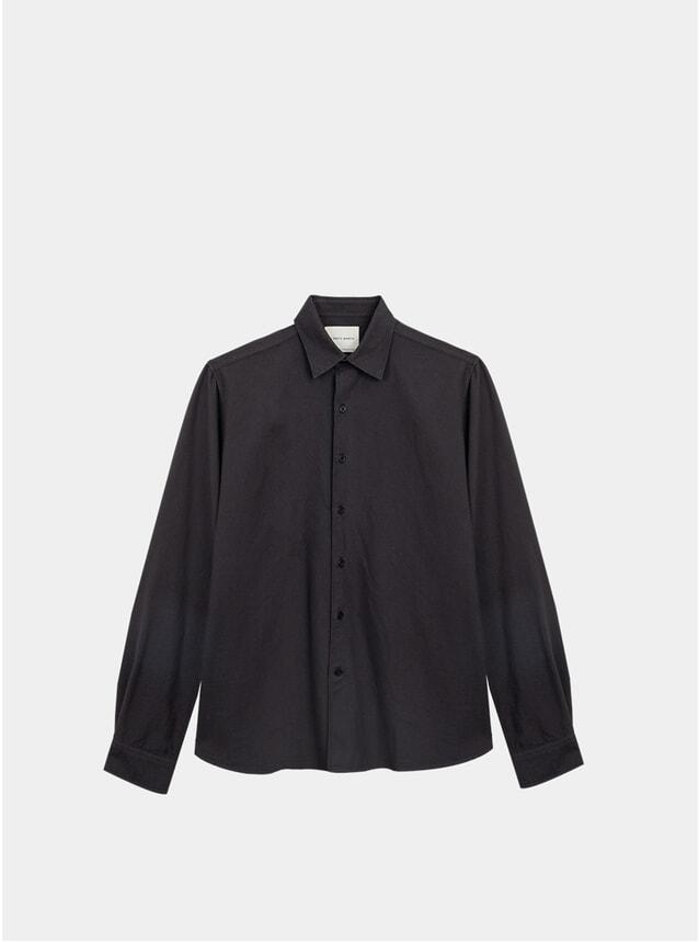 Off Black Clean Cut Oxford Shirt