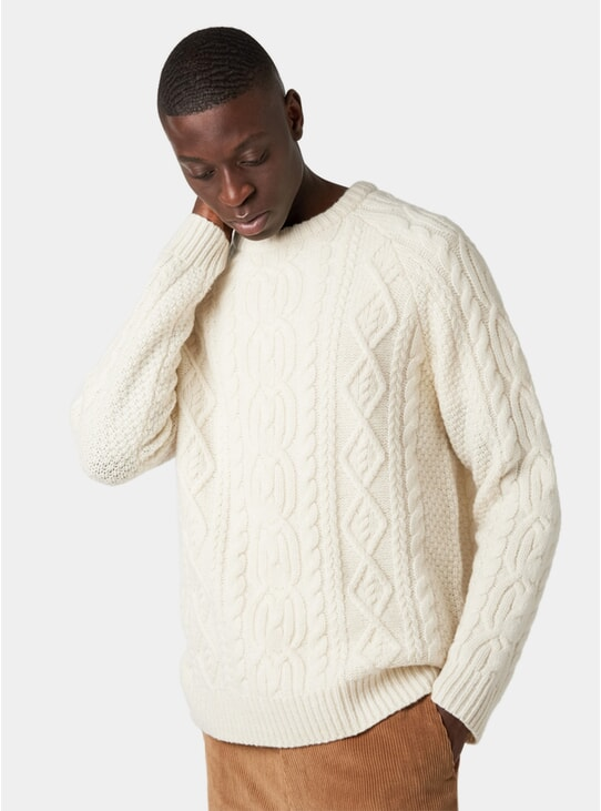Off White Aran Sweater