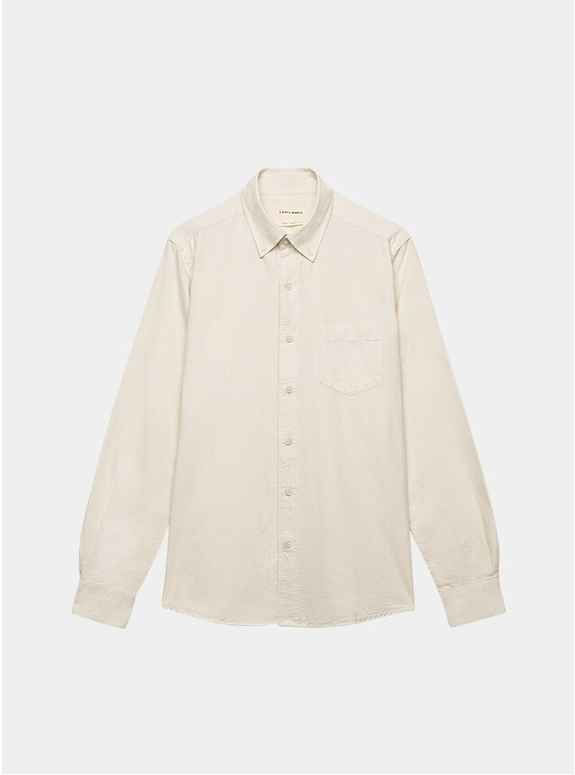 Off White Dyed Oxford Shirt