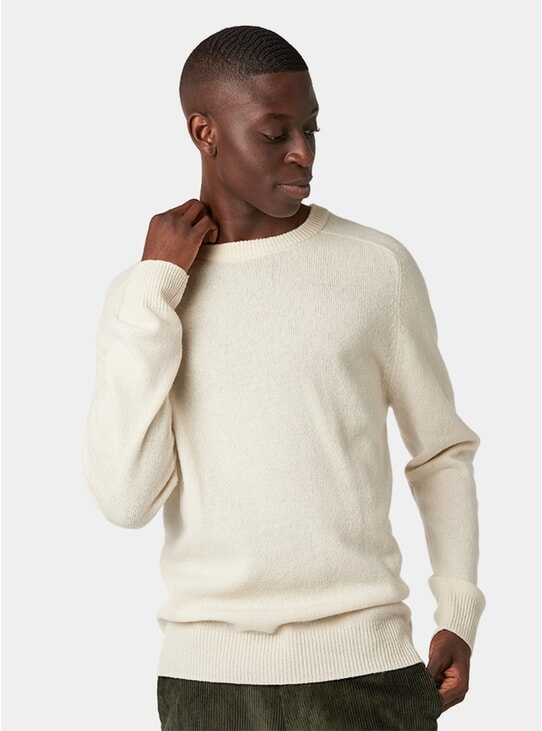 Off White Lambswool Sweater