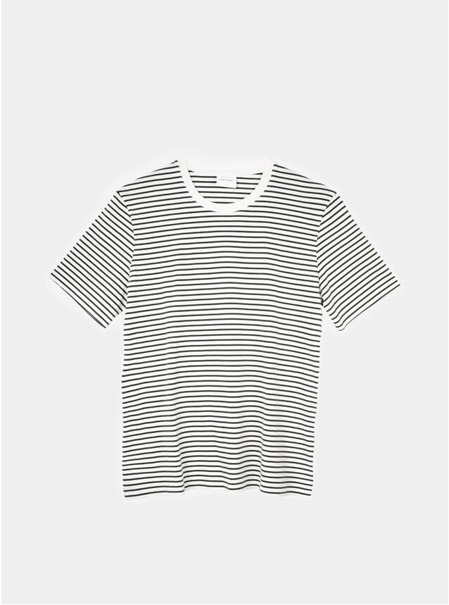 Off White / Moss Striped T Shirt
