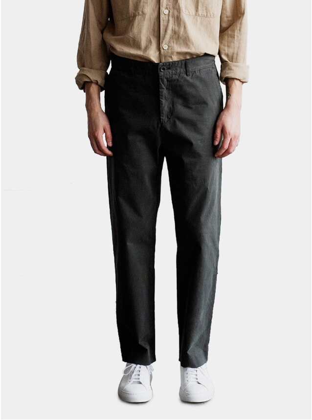 Olive Cropped Trousers