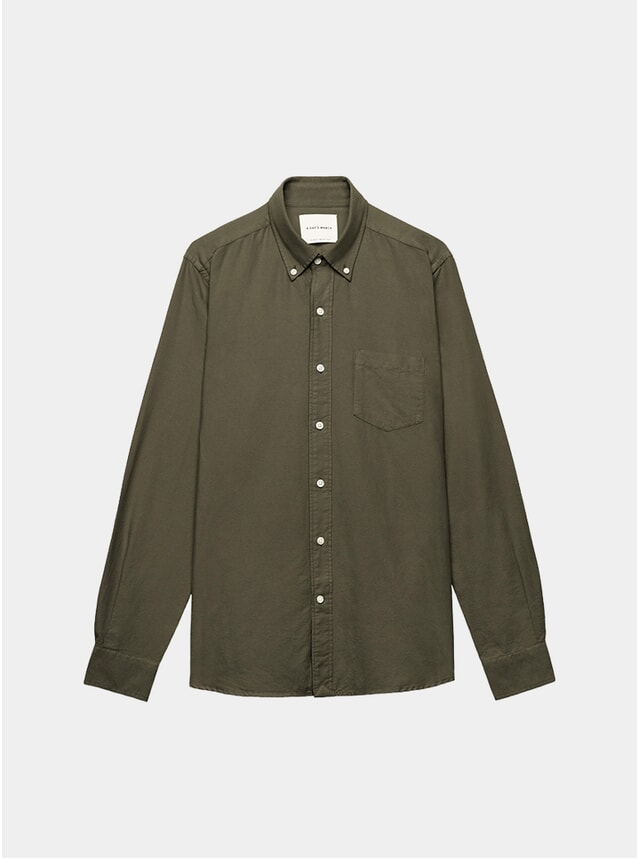 Olive Dyed Oxford Shirt