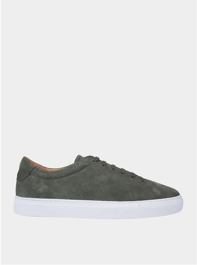 Olive Marching Suede Sneakers