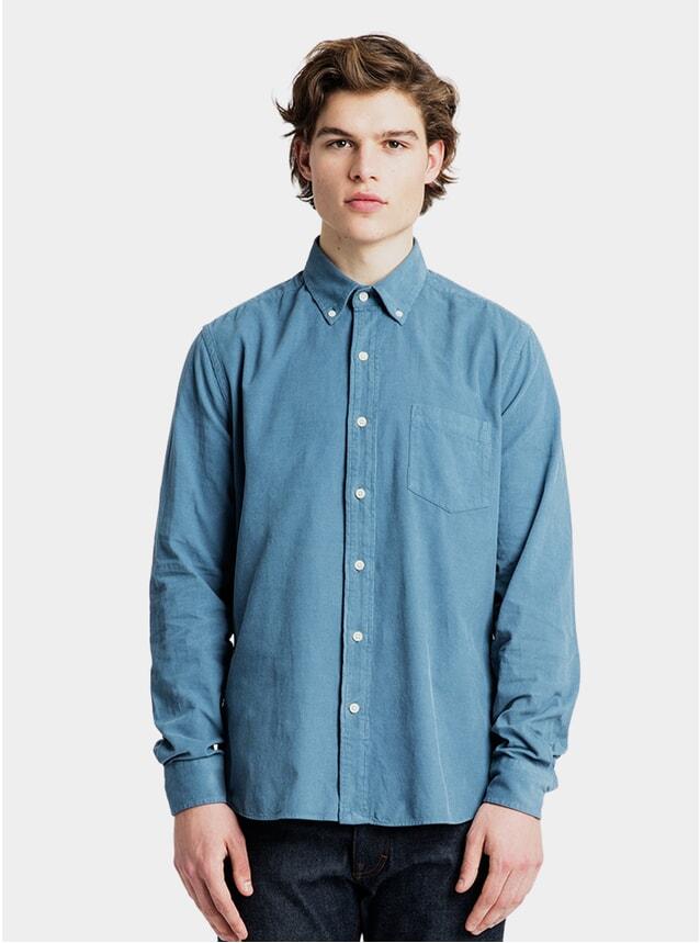 Pigeon Blue Baby Cord Shirt