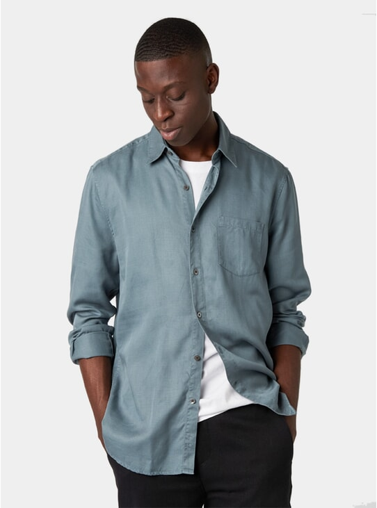 Pigeon Blue Tencel Shirt