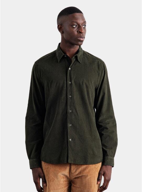 Seaweed Green Mini Cord Shirt
