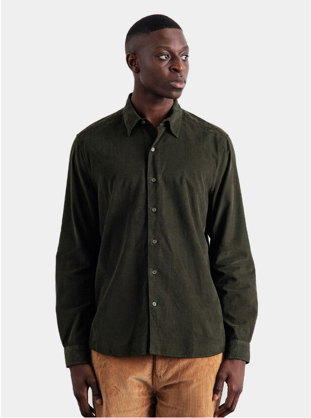 Seaweed Green Mini Cord Shirt
