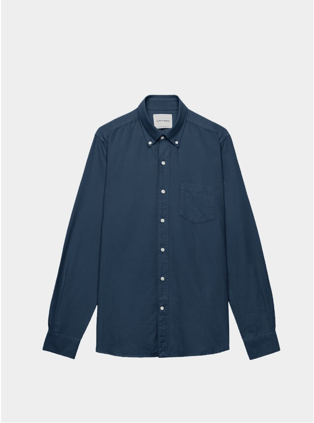Storm Blue Dyed Oxford Shirt