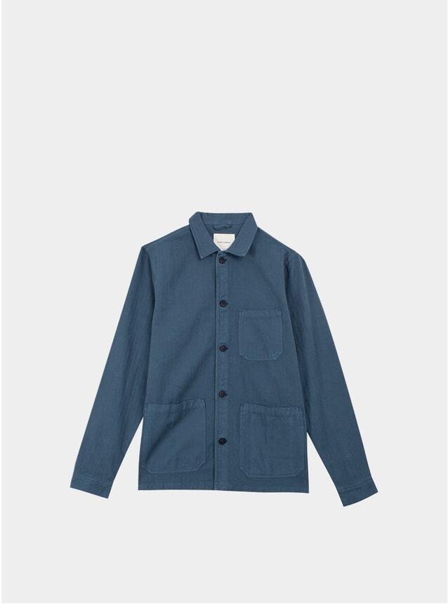 Storm Blue Original Herringbone Overshirt