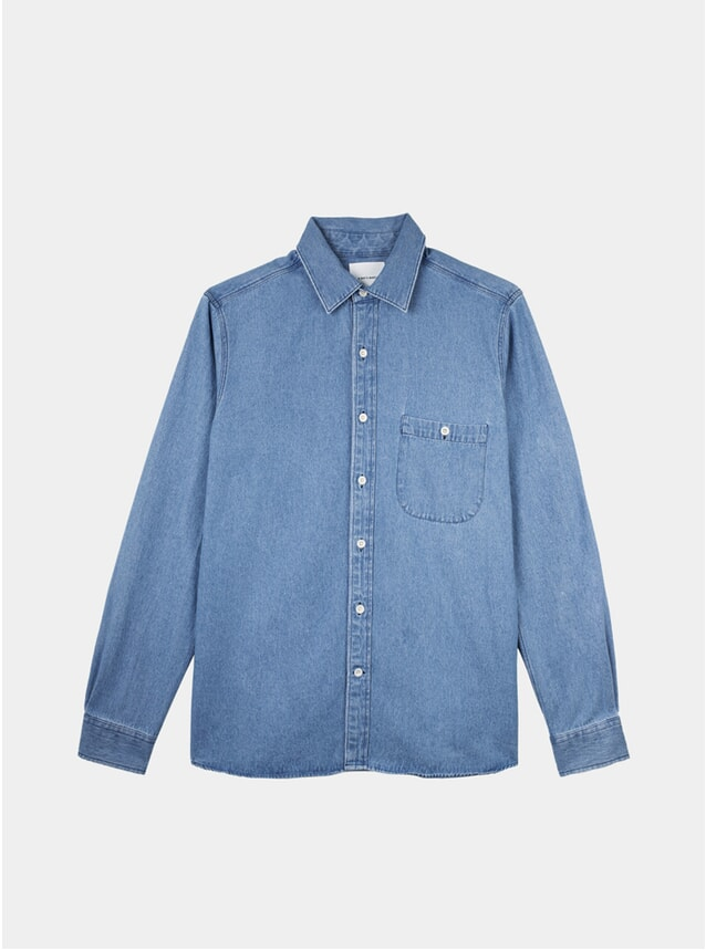 Washed Blue Sturdy Denim Shirt
