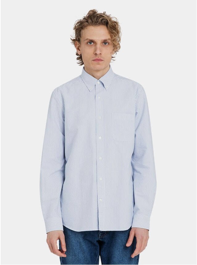 White / Light Blue Classic Oxford Shirt