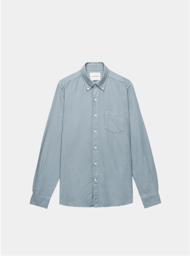 Stormy Grey Dyed Oxford Shirt