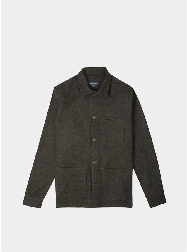 Moss Melange Wool Original Overshirt