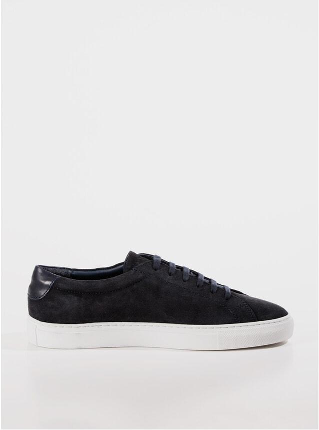 Navy Suede Marching Sneaker