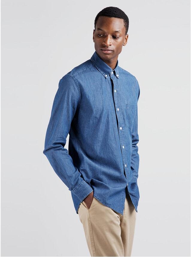 Washed Blue Denim Shirt