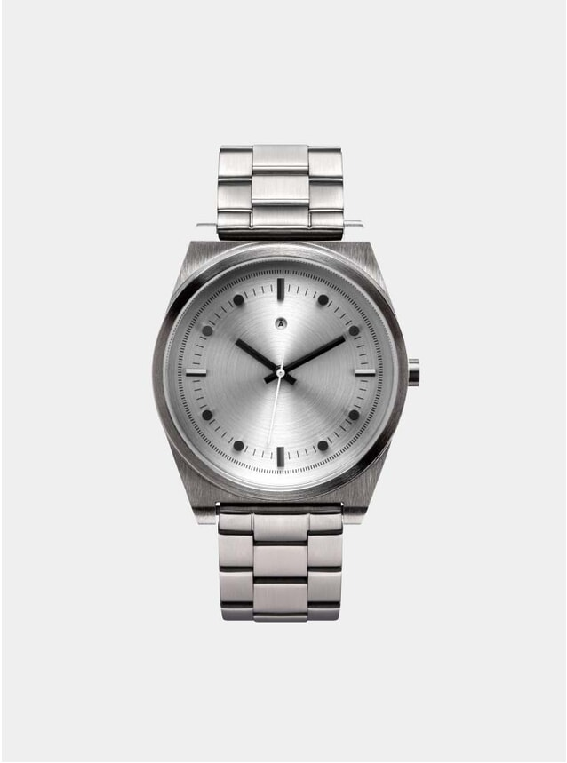 Silver Logo Watch