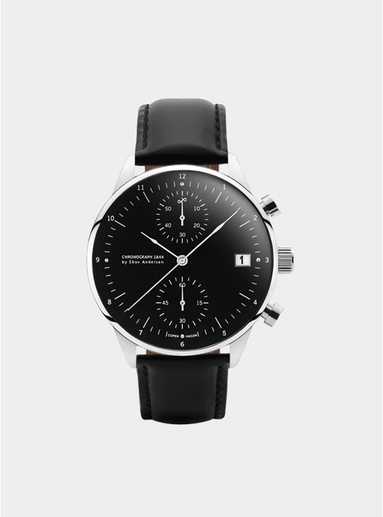 Black / Steel 1844 Chronograph Watch