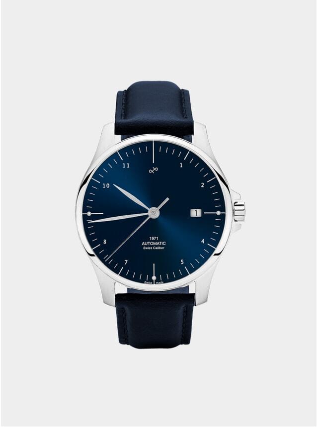 Night Blue Sunray / Steel 1971 Swiss Made Automatic Watch