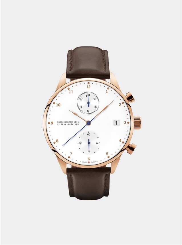 Rose Gold / White 1815 Chronograph Watch