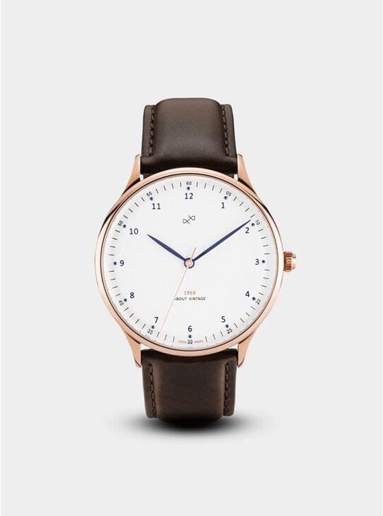 Rose Gold / White 1969 Vintage Watch